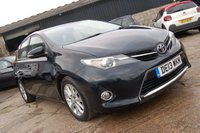 USED 2013 13 TOYOTA AURIS 1.4 ICON D-4D 5d 89 BHP 2013 TOYOTA AURIS 1.4 ICON D-4D DIESEL 5 DOOR HATCHBACK 90 BHP 60 MPG £20 ROAD TAX 1 OWNER FROM NEW SAT NAV REVERSE CAMERA DAB RADIO FSH 6 MONTHS WARRANTY & FINANCE AVAILABLE