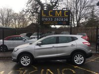 USED 2016 66 NISSAN QASHQAI 1.5 DCI ACENTA SMART VISION 5d 108 BHP STUNNING BLADE SILVER METALLIC WITH DARK GREY LUXURY CLOTH UPHOLSTERY. ONLY ONE OWNER FROM NEW WITH FULL SERVICE HISTORY. SMART VISION PACK. AIR CONDITIONING. CRUISE CONTROL. PARKING SENSORS. ALLOY WHEELS. AUX/USB POINTS. ELECTRIC WINDOWS. REMOTE CENTRAL LOCKING. PLEASE GOTO www.lowcostmotorcompany.co.uk TO  VIEW OVER 120 CARS IN STOCK, SOME OF THE CHEAPEST ONLINE.