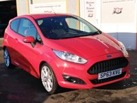 """USED 2013 63 FORD FIESTA 1.0 ZETEC S 3d 124 BHP 17"""" Alloys, Roof Spoiler, Aux & USB, Ford Synch & Bluetooth"""