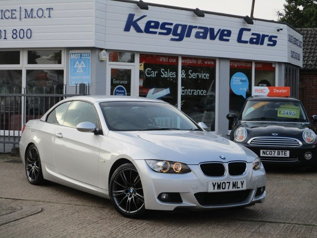 USED 2007 07 BMW 3 SERIES 2.0 320I M SPORT 2d AUTO 168 BHP Great Looking Convertible, Recent Service, New MOT, 2 Original Keys,