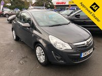 USED 2013 13 VAUXHALL CORSA 1.2 ENERGY AC 3d 83 BHP IN METALLIC GREY WITH ONLY 47500 MILES, 2 OWNERS AND A FULL SERVICE HISTORY Approved Cars are pleased to offer this stunning metallic grey 2013 Vauxhall Corsa 1.2 Energy with only 47500 miles. This car has been extremely well looked after and maintained and comes with a full service history. This ideal family car has plenty of space and a medium sized cargo area. With the 1.2 engine this car is very economical and meets the current ULEZ requirements. It is well equipped and comes with electric windows, aircon, DAB radio, bluetooth, isofix and much much more.