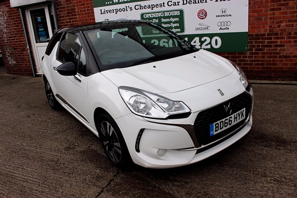 USED 2016 66 DS DS 3 1.2 PURETECH CHIC 3d 80 BHP +ONE OWNER +LOW TAX +FSH.