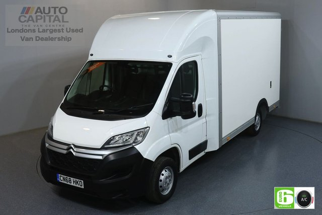 2018 68 CITROEN RELAY 2.0 35 L3 BLUEHDI 161 BHP EURO 6 ENGINE LUTON AIR CON, LOW LOADER, HEATED FRONT SCREEN