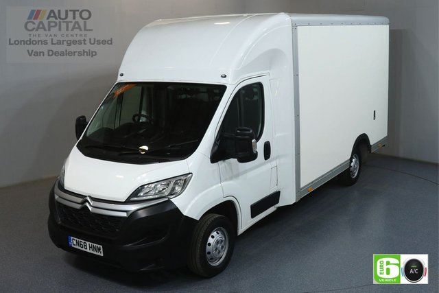 2018 68 CITROEN RELAY 2.0 35 L3 BLUEHDI 161 BHP EURO 6 ENGINE LUTON AIR CON, HEATED FRONT SCREEN