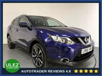 USED 2016 66 NISSAN QASHQAI 1.2 TEKNA DIG-T XTRONIC 5d AUTO 113 BHP FULL NISSAN HISTORY - 1 OWNER - SAT NAV - PAN ROOF - LEATHER - CAMERAS - PARKING SENSORS - AIR CON - BLUETOOTH - DAB