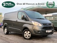 USED 2017 17 FORD TRANSIT CUSTOM 2.0 290 LIMITED LR P/V 130 BHP ULEZ Compliant, Magnetic Grey Metallic, One Owner, 130 BHP, Finance Arranged, Heated Seats.