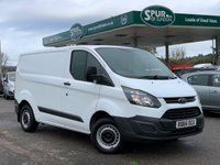 USED 2016 66 FORD TRANSIT CUSTOM 2.2 290 LR P/V 100 BHP ULEZ Compliant, Finance Arranged, Bluetooth Phone Connection, Low Mileage.
