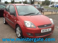 2006 FORD FIESTA 1.4 ZETEC CLIMATE 16V 3d 80 BHP * ONLY 39000 MILES, HISTORY * £1990.00