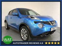 USED 2019 68 NISSAN JUKE 1.6 TEKNA XTRONIC 5d AUTO 112 BHP 1 OWNER - ULEZ OK - SAT NAV - CAMERA - LEATHER - AIR CON - BLUETOOTH - CRUISE - PRIVACY - AUX / USB - CD PLAYER