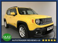 USED 2017 67 JEEP RENEGADE 1.4 LONGITUDE 5d AUTO 138 BHP FULL JEEP HISTORY - 1 OWNER - SAT NAV - REAR SENSORS - AIR CON - BLUETOOTH - DAB - CRUISE