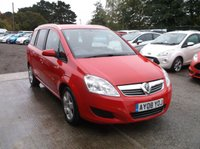 USED 2008 08 VAUXHALL ZAFIRA 1.9 BREEZE CDTI 5d 120 BHP Great Value Zafira, 7 Seats, Paperwork For Previous Services And MOT's!