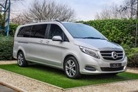 USED 2017 67 MERCEDES-BENZ V CLASS 2.1 V220 BLUETEC SPORT EXTRA LONG 5d AUTO 161 BHP A High Spec Luxury MPV that can Accommodate Eight Adults and their Luggage with a Full Black Leather Interior with Contrast White Stitch, Electrically Adjustable Heated Seats, Lumbar Support, 7 Inch Media Interface with Satellite Navigation, Parking Sensors with Reversing Camera, Radio, CD and Bluetooth Connectivity. Two Electrically Operated Sliding Doors, Power Tailgate, Privacy Glass, Ambient Interior Lighting, Air Conditioning, Dual Zone Climate..