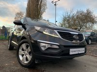USED 2012 62 KIA SPORTAGE 1.7 CRDI 2 5d 114 BHP HALF LEATHER+PANROOF+MEDIA+CD+CLIMATE+PARK+HISTORY+CLEANCAR+ELEC+2 KEYS+
