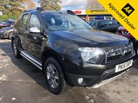 USED 2015 15 DACIA DUSTER 1.5 LAUREATE DCI 4X4 5d 109 BHP IN METALLIC BLACK WITH ONLY 50000 MILES, 1 OWNER, FULL SERVICE HISTORY AND A GREAT SPEC. THIS IS THE 4WD MODEL Approved Cars are pleased to offer this stunning metallic black 4WD Dacia Duster 1.5 Laureate DCI. This is an extremely well looked after and maintained and comes with a full service history with service stamps at 12k, 25k, 37k and 48000 miles. This is an ideal family car and is well equipped with DAB, rear parking sensors, cruise control, central locking and much much more. For more information or to book a test drive please call our sales team on 01622 87155.