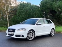 USED 2012 12 AUDI A3 1.6 TDI S LINE 5d 103 BHP GOOD LOOKING S LINE 5 DR A3 IN WHITE WITH ONLY 2 OWNERS AND FSH