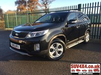 USED 2015 15 KIA SORENTO 2.2 CRDI KX-2 SAT NAV 5d 194 BHP 7 SEATS ALLOYS CRUISE BLUETOOTH 7 SEATER. SATELLITE NAVIGATION. STUNNING BLACK MET WITH FULL BLACK LEATHER TRIM. HEATED SEATS. CRUISE CONTROL. SIDE STEPS. 17 INCH ALLOYS. COLOUR CODED TRIMS. PRIVACY GLASS. PARKING SENSORS. REVERSE ASSIST CAMERA. BLUETOOTH PREP. CLIMATE CONTROL INCLUDING AIR CON. MEDIA INTERFACE. MFSW. ROOF BARS. MOT 11/20. SERVICE HISTORY. PRESTIGE SUV CENTRE LS23 7FR. TEL 01937 849492 OPTION 1