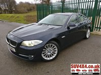 USED 2010 10 BMW 5 SERIES 3.0 530D SE 4d 242 BHP SAT NAV LEATHER REVERSING CAMERA SATELLITE NAVIGATION. STUNNING BLUE MET WITH FULL BEIGE LEATHER TRIM. ELECTRIC HEATED SEATS. CRUISE CONTROL. 18 INCH ALLOYS. COLOUR CODED TRIMS. PARKING SENSORS.  BLUETOOTH PREP. CLIMATE CONTROL INCLUDING AIR CON. MFSW. R/CD PLAYER. MFSW. MOT 08/20. SERVICE HISTORY. PRESTIGE SUV CENTRE LS23 7FR. TEL 01937 849492 OPTION 1