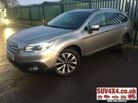 USED 2016 16 SUBARU OUTBACK 2.0 D SE PREMIUM 5d 150 BHP SUNROOF SAT NAV LEATHER SUNROOF. SATELLITE NAVIGATION. STUNNING GOLD MET WITH FULL BLACK LEATHER TRIM. ELECTRIC MEMORY HEATED SEATS. CRUISE CONTROL. 18 INCH ALLOYS. COLOUR CODED TRIMS. PRIVACY GLASS. REVERSE CAMERA. BLUETOOTH PREP. ELECTRIC TAILGATE. CLIMATE CONTROL INCLUDING AIR CON. MFSW. ROOF BARS. TOWBAR. MOT 08/20. SERVICE HISTORY. PRESTIGE SUV CENTRE LS23 7FR. TEL 01937 849492 OPTION 1
