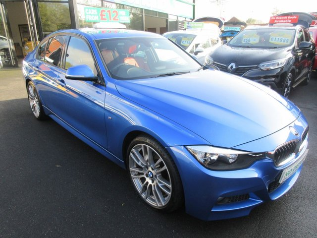 USED 2014 14 BMW 3 SERIES 2.0 318D M SPORT 4d 141 BHP CALL 01543 379066... 12 MONTHS MOT... 6 MONTHS WARRANTY... DIESEL M SPORT... FULL RED LEATHER