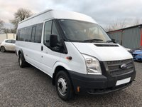 2012 FORD TRANSIT 2.2 430 SHR BUS 17 STR 134 BHP £9495.00