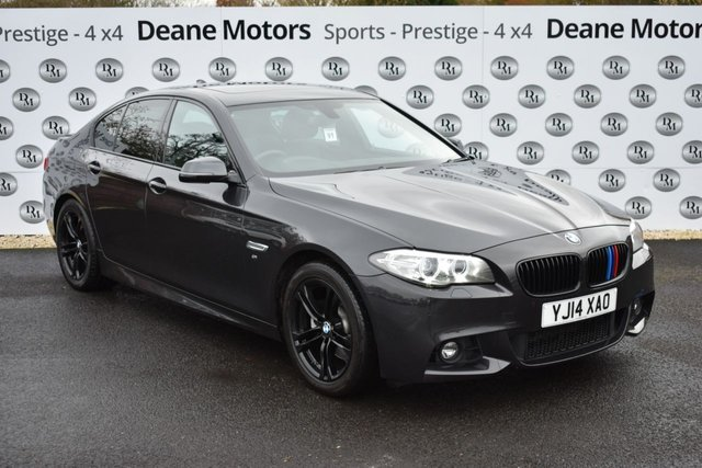 2014 14 BMW 5 SERIES 2.0 520D M SPORT 4d AUTO 181 BHP SUNROOF BLACK PACK