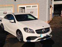 "USED 2016 65 MERCEDES-BENZ A CLASS 1.5 A 180 D AMG LINE 5d 107 BHP 18"" Alloys, Bluetooth, Cruise Control, Leather/ Alcantara, Parking Sensors"