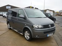 2013 VOLKSWAGEN TRANSPORTER 2.0 T28 TDI HIGHLINE 178 BHP kombi towbar  Day van with Split charge relay  power points in rear led load area light fly net fully carpeted navigation . pump up awning available by separate negotiations.  £16995.00