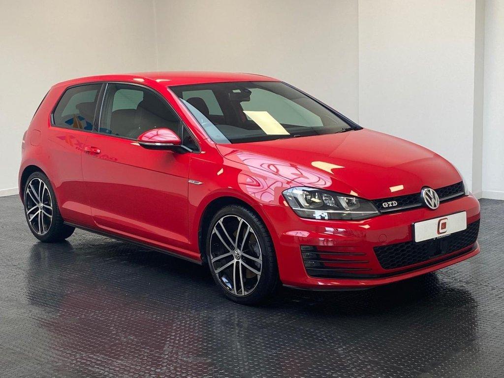USED 2014 14 VOLKSWAGEN GOLF 2.0 GTD 3d 182 BHP LOW MILES + SERVICE HISTORY + STUNNER IN RED + GOOD PRICE!!