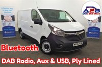 2016 VAUXHALL VIVARO 1.6 CDTi 2700 115 BHP in White with One Owner from New, Bluetooth, DAB Radio, Ply Lined, Electric Pack and more £8480.00