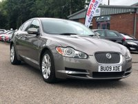 USED 2009 09 JAGUAR XF 3.0 V6 LUXURY 4d 240 BHP NAVIGATION SYSTEM +  LEATHER +  18 INCH ALLOYS *  FULL SERVICE RECORD (10 STAMPS ) *  BLUETOOTH