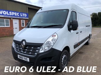 2018 RENAULT MASTER 2.3 LM35 BUSINESS ENERGY DCI 145 BHP £13000.00