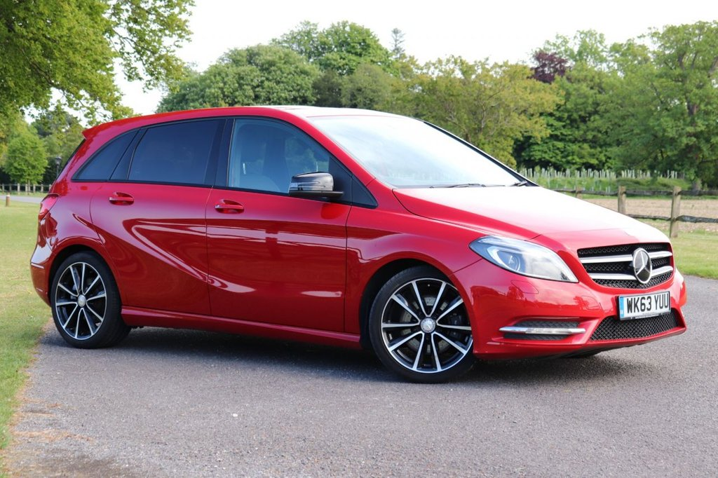 USED 2014 63 MERCEDES-BENZ B-CLASS 2.1 B220 CDI SPORT 5d AUTO 170 BHP 1 Owner + Leather + Camera + Parking Sensors Front / Rear + Cruise,