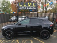 USED 2018 68 JAGUAR E-PACE 2.0 S 5d 148 BHP STUNNING SANTORINI METALLIC BLACK, EBONY LEATHER, CRUISE CONTROL, SAT NAV, REVERSE CAMERA, PARKING SENSORS, DAB, POWER TAIL GATE, GLOSS BLACK ALLOY WHEELS, LOW PRICE