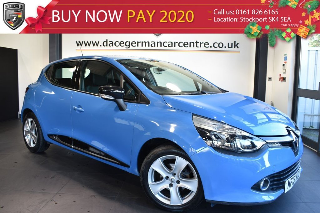 "USED 2013 13 RENAULT CLIO 1.1 DYNAMIQUE MEDIA NAV 5DR 75 BHP excellent service history  Finished in stunning blue styled with 16"" alloys. Upon entering the drivers door you are presented with cloth upholstery, excellent service history, satellite navigation, bluetooth, touch screen interface, multi function steering wheel, key card start/stop system, cheap insurance, great first car, USB/AUX port"