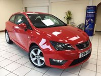USED 2014 14 SEAT IBIZA 1.2 TSI FR 3d 104 BHP MULTIPLE AIRBAGS / ISOFIX / 2 OWNERS / SERVICE HISTORY / LOW EMISSIONS / £30.00 ROAD TAX