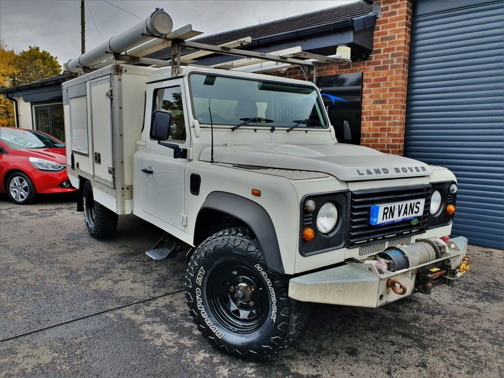 USED 2008 08 LAND ROVER DEFENDER 2.4 130 SINGLE CAB LWB 2DR 121 BHP *** WINCH - INVERTER - HEATER ***