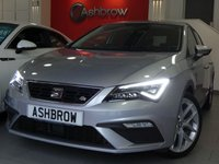 USED 2018 68 SEAT LEON 1.4 TSI FR TECHNOLOGY 5d 125 S/S NEW SHAPE, FULL SERVICE HISTORY, BALANCE OF SEAT WARRANTY, UPGRADE 18 INCH PERFORMANCE ALLOYS, UPGRADE CONVENIENCE PACK PLUS, UPGRADE LED INTERIOR LIGHTS PACK, SAT NAV, FULL LINK FOR APPLE CAR PLAY ANDROID AUTO & MIRROR LINK, FRONT ASSIST, BLUETOOTH PHONE & MUSIC STREAMING, DAB RADIO, LED FRONT & REAR LIGHTS, REAR PARKING SENSORS