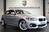 """USED 2016 65 BMW 1 SERIES 1.5 118I M SPORT 5DR 134 BHP full service history Finished in a stunning glacier metallic silver styled with 18"""" alloys. Upon opening the drivers door you are presented with full leather interior, full service history, satellite navigation, bluetooth, LED headlights, cruise control, dab radio, Multifunction steering wheel, sport seats, Fog lights, Rain sensors, M Sports package, parking sensors"""