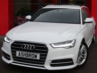 USED 2017 67 AUDI A6 AVANT 2.0 TDI ULTRA S LINE 5d 190 S/S 1 OWNER FROM NEW, FULL SERVICE HISTORY, BALANCE OF AUDI WARRANTY, SAT NAV, FULL BLACK LEATHER, HEATED FRONT SEATS, ELECTRIC FRONT SEATS WITH DRIVER MEMORY, DAB RADIO, BLUETOOTH PHONE & MUSIC STREAMING, AUDI MUSIC INTERFACE FOR IPOD / USB DEVICES (AMI), FRONT & REAR PARKING SENSORS WITH DISPLAY, LED LIGHTS, DIRECTIONAL SWEEPING INDICATORS, 18 INCH TWIN 5 SPOKE ALLOYS, ELECTRIC TAILGATE, CRUISE CONTROL, ELECTRIC LUMBAR SUPPORT, LIGHT & RAIN SENSORS WITH AUTO DIMMING REAR VIEW, POWER FOLD MIRRORS