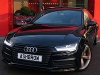 USED 2017 67 AUDI A7 SPORTBACK 3.0 TDI QUATTRO BLACK EDITION 5d AUTO S/S UPGRADE HEATED FRONT & OUTER REAR SEATS, SAT NAV, FULL  LEATHER, BOSE, DAB RADIO, BLUETOOTH PHONE & AUDIO, AMI, QUATTRO 4 WHEEL DRIVE, LED HEADLIGHTS WITH DAYTIME RUNNING LIGHTS, FRONT & REAR PARKING SENSORS WITH DISPLAY, ACTIVE REAR SPOILER, ELECTRIC TAILGATE, PRIVACY GLASS, ELECTRIC SEATS WITH DRIVER MEMORY, SPORT SEATS WITH ELECTRIC LUMBAR SUPPORT, LEATHER FLAT BOTTOM MULTIFUNCTION TIPTRONIC STEERING WHEEL, LIGHT & RAIN SENSORS, 1 OWNER FROM NEW, FULL SERVICE HISTORY, BALANCE OF AUDI WARRANTY