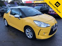2010 CITROEN DS3 1.4 DSIGN 3d 95 BHP IN METALLIC YELLOW WITH ONLY 61000 MILES, FULL SERVICE HISTORY, GREAT SPEC AND IS ULEZ COMPLIANT  £2999.00