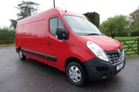 USED 2015 15 RENAULT MASTER LM35 LWB MEDIUM HIGHTOP BUSINESS PLUS ENERGY 2.3 DCI 135 BHP Direct From Leasing Company 46000 Miles With FSH, Popular Higher Specification Business Plus Model With Air Con, Bluetooth & Parking Sensors, Eye Catching Van In Bright Red! Very Clean Condition Inside & Out!