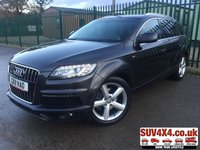 USED 2011 11 AUDI Q7 3.0 TDI QUATTRO S LINE 5d 245 BHP 7 SEATS CRUISE LEATHER ALLOYS CLIMATE 4WD. 7 SEATER. SATELLITE NAVIGATION. TECHNOLOGY PACK. STUNNING LAVA GREY MET WITH FULL BLACK S LINE LEATHER TRIM. ELECTRIC HEATED SEATS. CRUISE CONTROL. 20 INCH ALLOYS. COLOUR CODED TRIMS. PRIVACY GLASS. PARKING SENSORS. REVERSE CAM. BLUETOOTH PREP. ELECTRIC TAIL GATE. MULTI MEDIA SCREEN. CLIMATE CONTROL. TRIP COMPUTER. DAB RADIO. AUTO GEARBOX. MFSW. DETACHABLE TOW BAR. MOT 07/20. SERVICE HISTORY. PRESTIGE SUV CENTRE LS23 7FR. TEL 01937 849492 OPTION 1