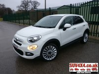 USED 2016 65 FIAT 500X 1.6 MULTIJET LOUNGE 5d 120 BHP SAT NAV PRIVACY FSH SATELLITE NAVIGATION. STUNNING WHITE WITH BEIGE PART LEATHER TRIM. CRUISE CONTROL. 18 INCH ALLOYS. COLOUR CODED TRIMS. PRIVACY GLASS. PARKING SENSORS. BLUETOOTH PREP. CLIMATE CONTROL. R/CD PLAYER. MOT 11/20. SUV4X4 USED CAR CENTRE LS23 7FQ. TEL 01937 849492 OPTION 2