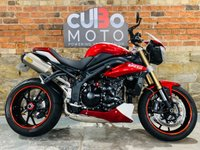 USED 2014 14 TRIUMPH SPEED TRIPLE 1050 ABS 8 BALL SPECIAL EDITION Twin Arrow Exhausts