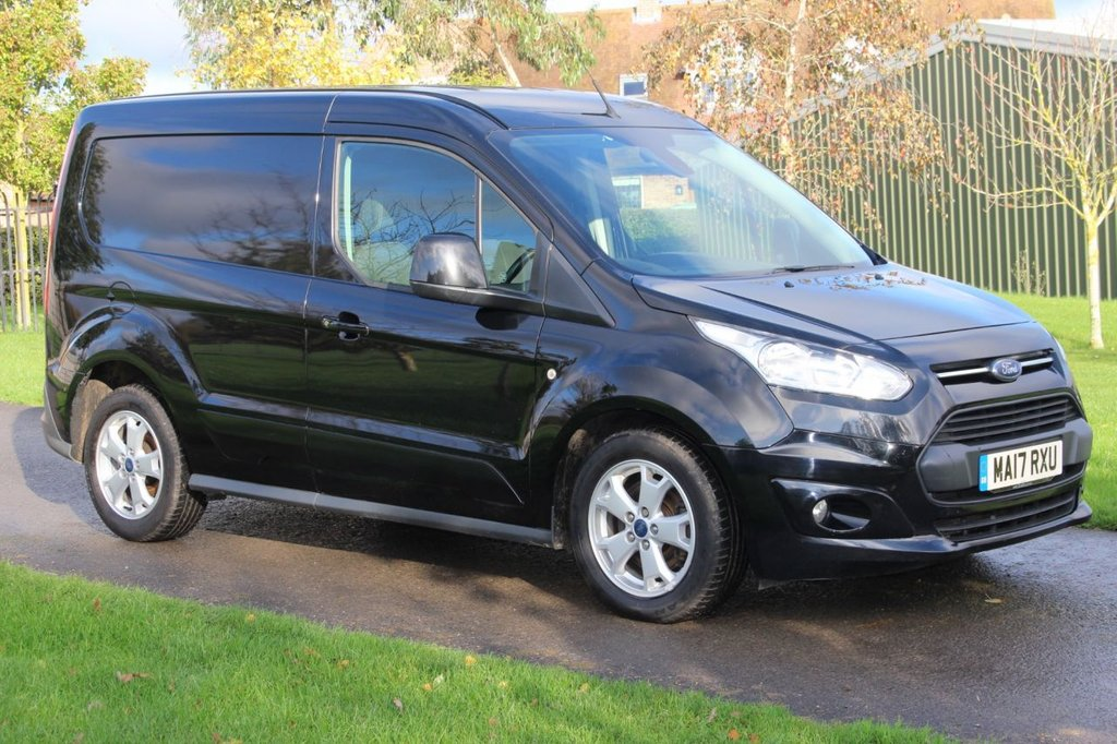 USED 2017 17 FORD TRANSIT CONNECT 1.5 200 LIMITED P/V 118 BHP Euro 6 + One owner - Panther Black - Warranty - Full Service History -