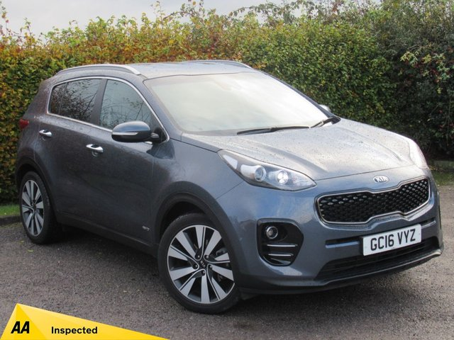 USED 2016 16 KIA SPORTAGE 2.0 CRDI KX-3 5d 134 BHP * 128 POINT AA INSPECTED * 12 MONTHS AA BREAKDOWNCOVER *