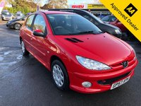 2008 PEUGEOT 206 1.4 LOOK HDI 5d 68 BHP IN METALLIC RED WITH ONLY 91000 MILES, GREAT SERVICE HISTORY AND AN IDEAL FIRST CAR. BEING SOLD AS A TRADE CLEARNACE £1499.00
