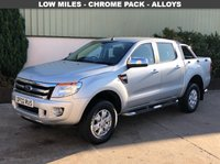 USED 2015 02 FORD RANGER 2.2 XLT 4X4 DCB TDCI 4d 148 BHP LOW MILES, ROLL BAR, LINER