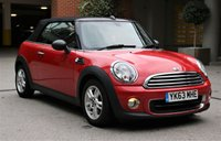 USED 2013 63 MINI CONVERTIBLE 1.6 ONE 2d 98 BHP